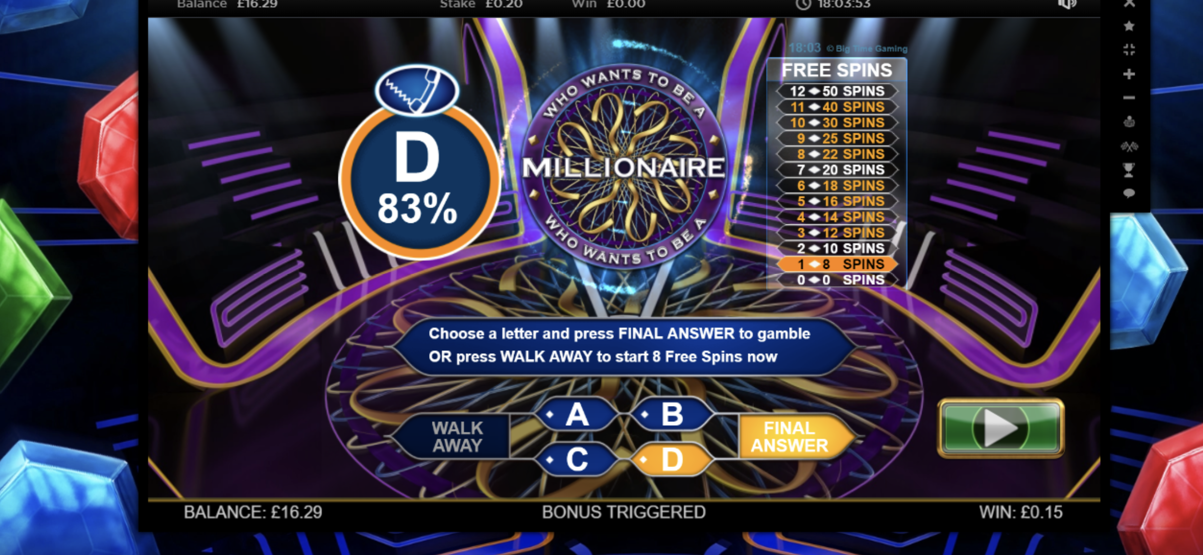 giri gratis who wants to be a millionaire